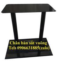 Chân bàn sắt vuông đôi