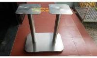 Chân bàn inox vuông đôi